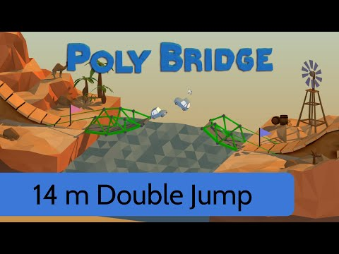 poly bridge level 17 14m double jump youtube. Black Bedroom Furniture Sets. Home Design Ideas