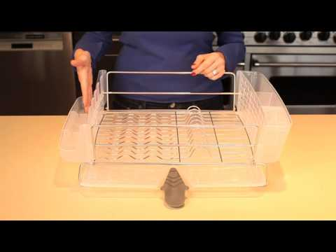 Oxo Good Grips Folding Stainless Steel Dish Rack Gorgeous OXO Folding Dishrack YouTube