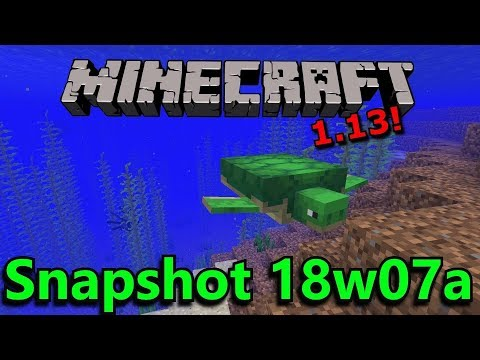Minecraft 1.13 Snapshot 18w07a- Turtles, Phantoms, Tridents, & New Water Mechanics!