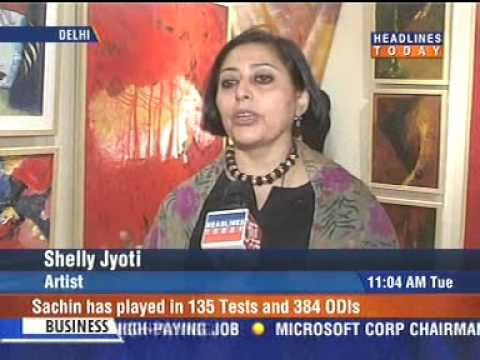 shelly Jyoti  24April 2007-News-HeadlinesToday-LYRICAL -ABSTRACTION  India Habitat Center New Delhi