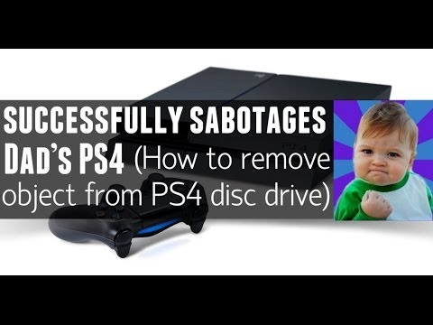 How To Remove Object From PS4 Disc Drive