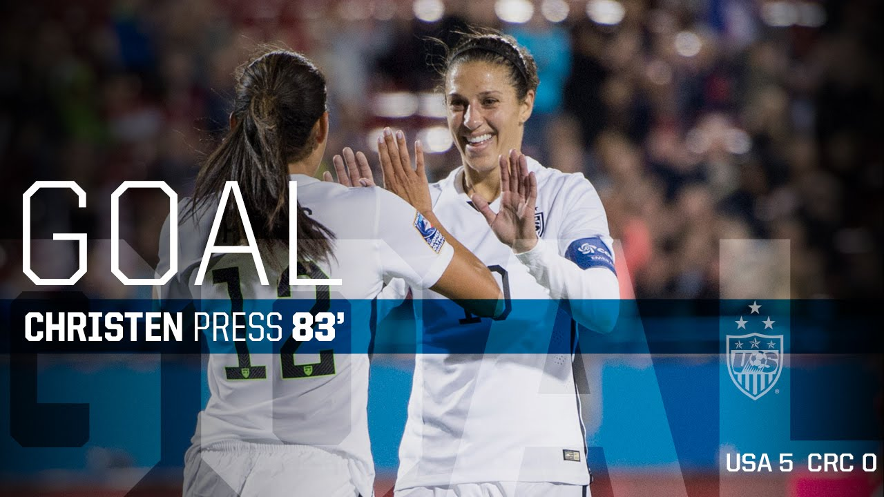 WNT vs  Costa Rica: Christen Press Goal - Feb  10, 2016