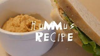 Oil Free, Tahini Free Hummus Recipe + Hummus Sandwiches!