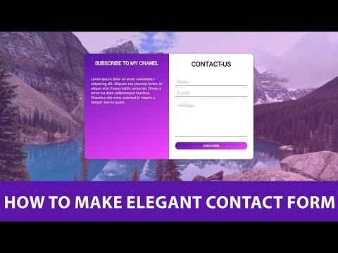 Responsive Contact Us Form Using HTML And CSS