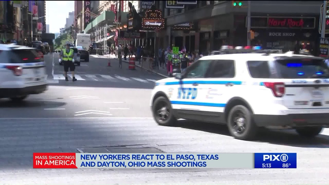 New Yorkers react to El Paso, Texas and Dayton, Ohio mass