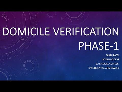 Domicile verification in gujarat medical Admission 2018