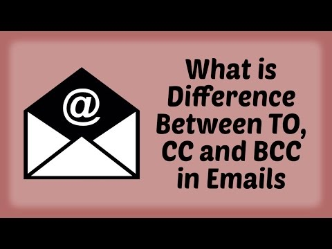 What is Difference Between TO, CC and BCC in Emails - Hindi Video