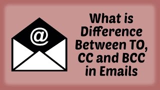 what is difference between to cc and bcc in emails hindi video