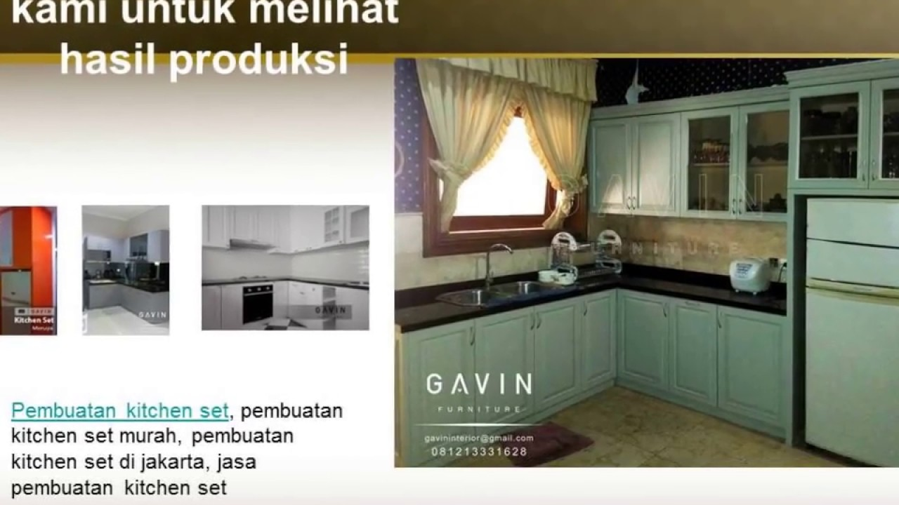0812 1333 1628 Tsel Kitchen Set Klasik Modern Youtube
