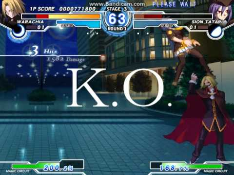 Melty Blood Actress Again Current Code Ver. 1.07 - C-Warachia Arcade Mode Part 1 |