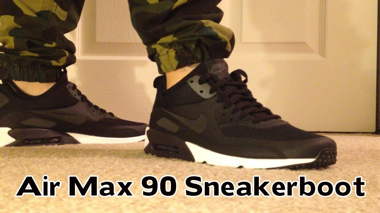 Review + On Feet : Nike Air Max 90 \u0026quot;Sneakerboot\u0026quot;