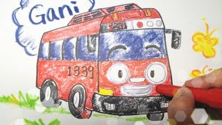 꼬마버스 타요 가니 그리기 Tayo the Little Bus Going drawing 손그림/크레파스/크레용