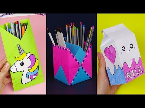 30 DIY School Supplies | Easy DIY Paper crafts ideas