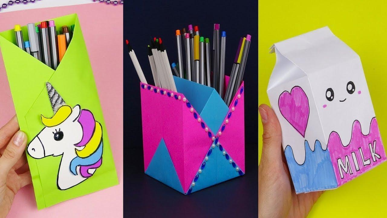 Repeat 30 Diy School Supplies Easy Diy Paper Crafts Ideas