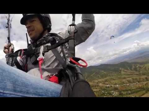 Awesome flying over the valley of Oaxaca