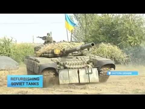 Refurbishing Soviet Tanks for East Ukraine War Effort: Several of T-72 made ready for combat