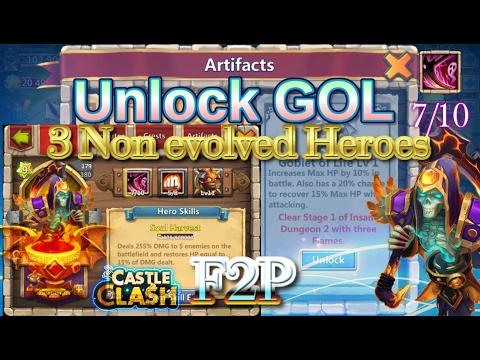 Castle Clash Unlock GOL Using 7/10 Skill Reaper!!_Must See If Anyone Didn't Unlock Yet_