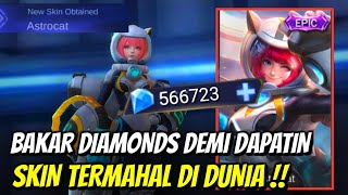 BAKAR DIAMONDS MOBILE LEGENDS DEMI SKIN PALING MAHAL DI DUNIA !!