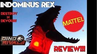 """Mattel """"Destroy N Devour Indominus Rex Review!!! Jurassic World!!!"""