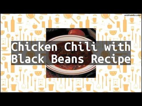 Recipe Chicken Chili With Black Beans Recipe