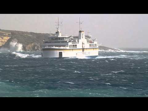 rough sea  gozo channel line