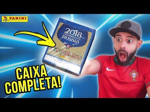 CAIXA COMPLETA! 😍 50 SAQUETAS MUNDIAL 2018! 🔥