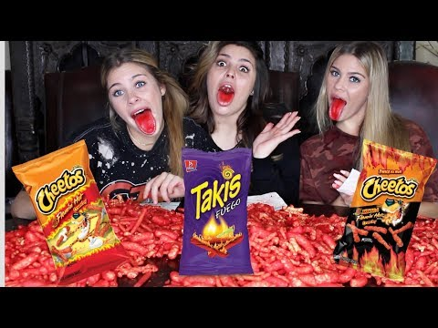 Download Youtube: HOT CHEETOS AND TAKIS CHALLENGE -Caci Twins