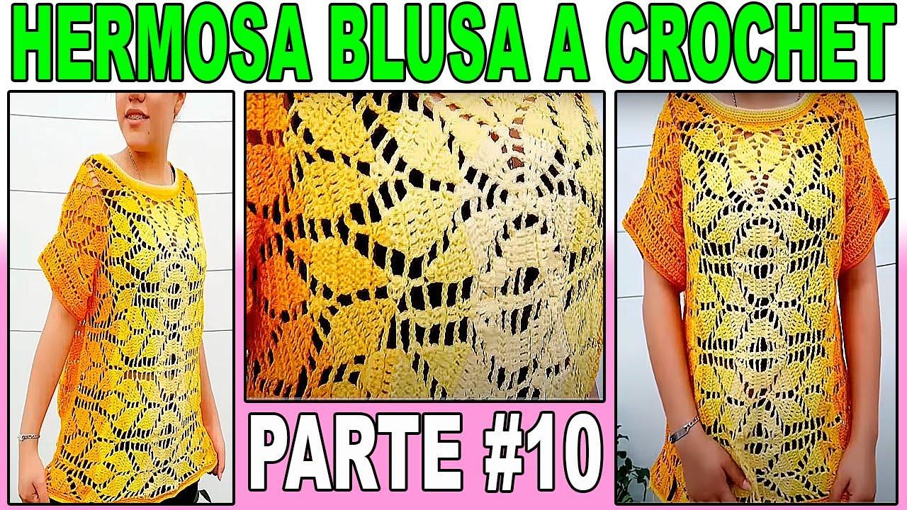 Blusa de hojas parte #9 | Blusa a crochet punto de hojas | blusa de hojas | blusa temporada 2020