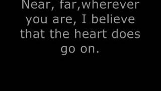 Titanic My heart will go on Celiene Deion (lyrics) (letra) download Karaoke