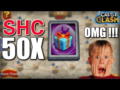 Castle Clash : Opening 50 Special Hero Card ! Wtf Unbelievable ☆ MUST WATCH ☆
