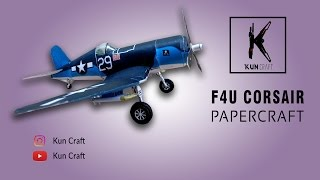 F4U Corsair Aircraft l Papercraft Build l Time-lapse