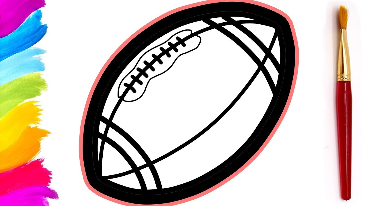 American Football Ball Coloring Pages For Kids Eggstory Youtube
