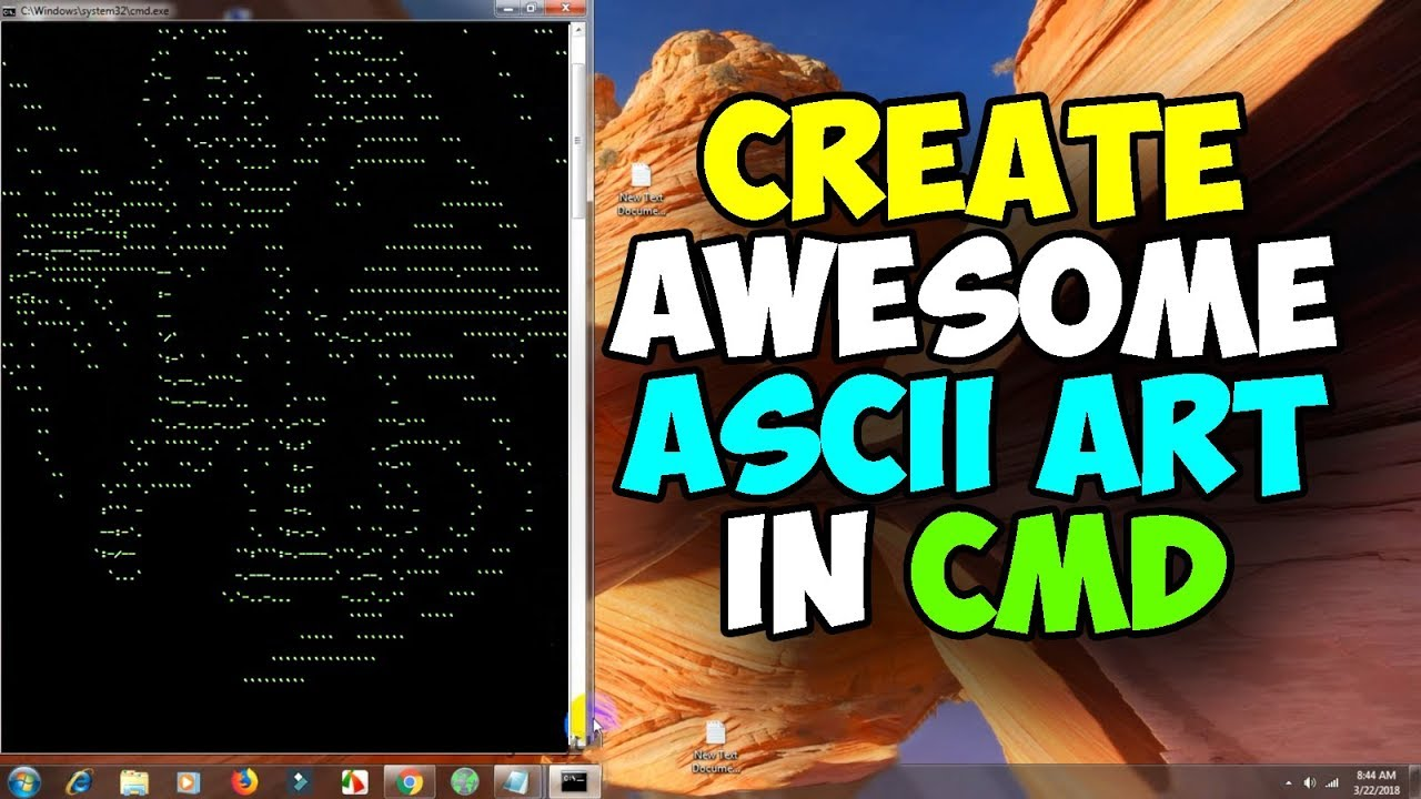 Convert a image into ascii art in CMD