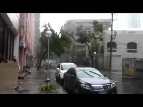 Typhoon Glenda / Rammasun hits Makati, Philippines