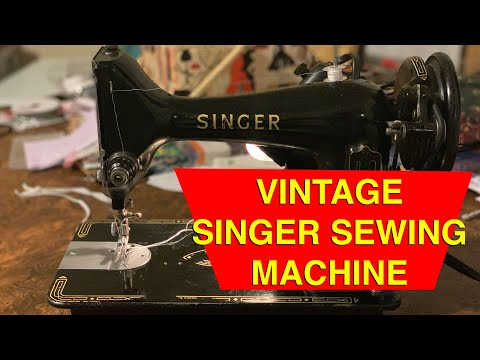How to Thread a Vintage Singer Sewing Machine 1920s 1930s 1940s 1950s