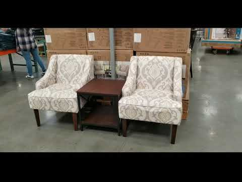 Costco! Home Pop 3 Piece Fabric Chair and Table Set! $299!!!