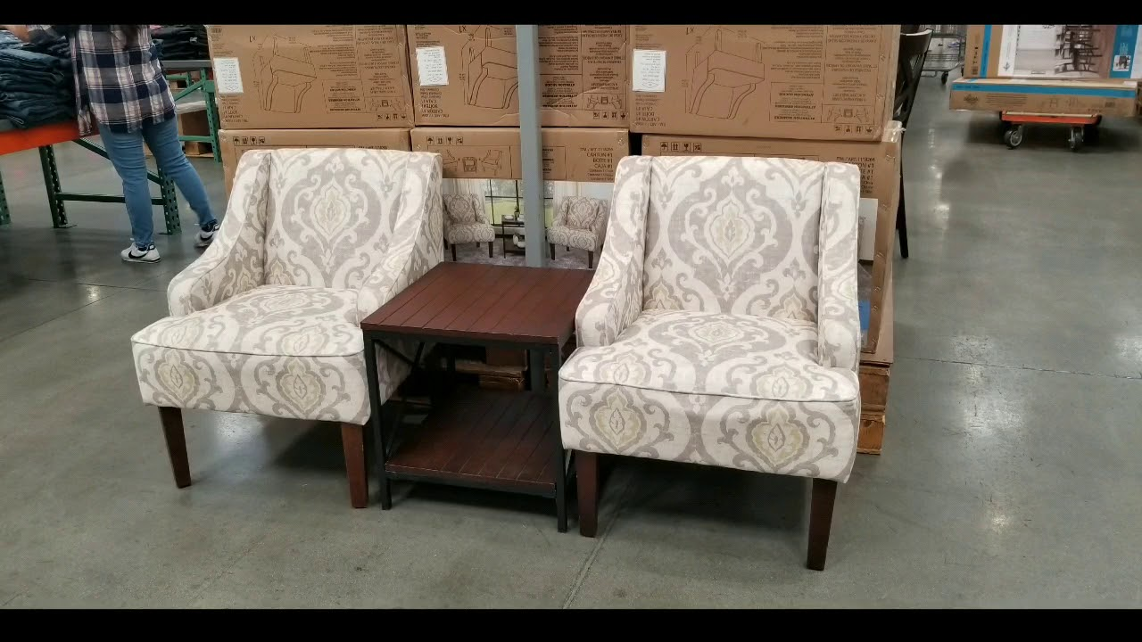 Accent Chairs At Costco Costco Home Pop 3 Piece Fabric Chair And Table Set 299