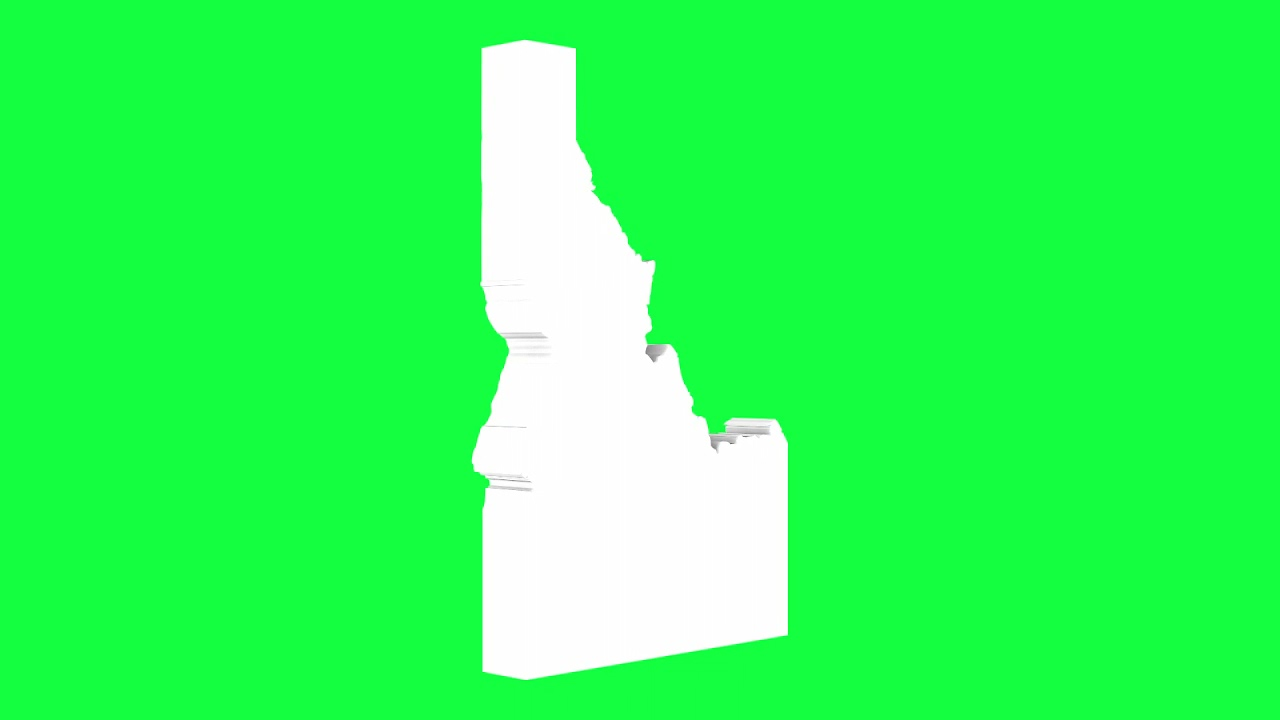 Idaho USA Outline Green Screen Animation Loop