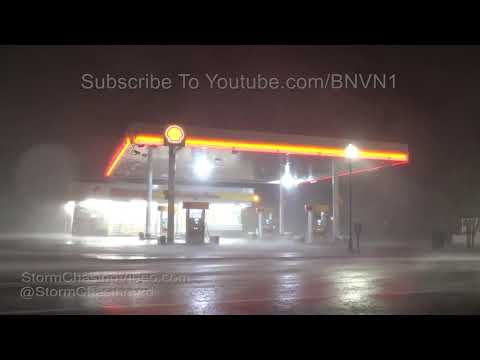 Florence Intense Eye-wall Downtown Wilmington, NC - 9/14/2018