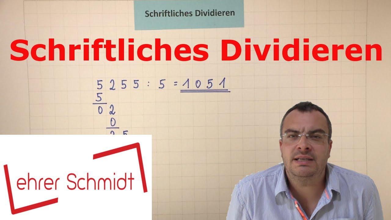Download Schriftliches Dividieren - EINFACH ERKLÄRT | Mathematik | | Lehrerschmidt - einfach erklärt!
