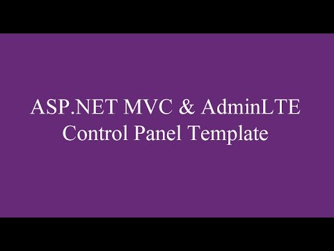 ASP.NET MVC & AdminLTE Control Panel Template Kullanımı
