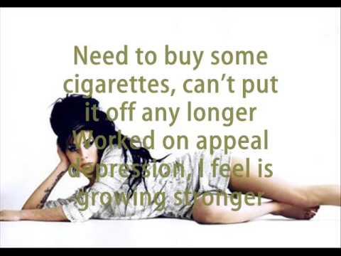 Amy Winehouse - Procrastination (lyrics)