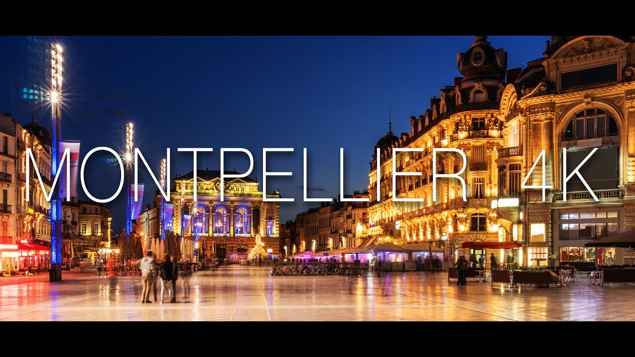 la ville de montpellier 4k youtube. Black Bedroom Furniture Sets. Home Design Ideas