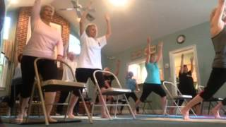 Chair Yoga, standing sequence, part 2