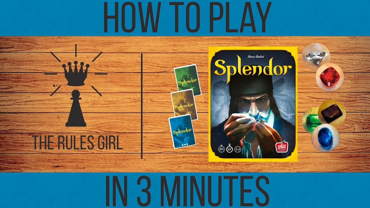 How To Play Splendor In 3 Minutes The Rules Girl Youtube