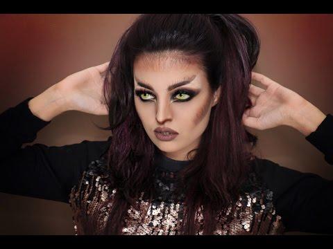 Werewolf Halloween Makeup Tutorial - Inspired By CHRISSPY - YouTube
