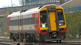 South West Trains 158889 With East Midland Trains At Derby & Nottingham