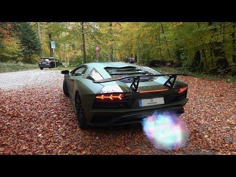 Loudest Lamborghini Aventador S LP740-4 w/Capristo exhaust in Zurich. (Brutal sound!)