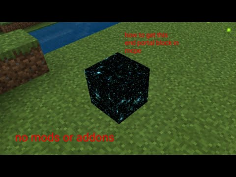 How To Get The End Portal Blocks In Mcpe