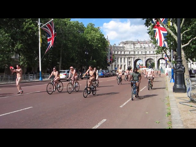 World Naked Bike Ride - WNBR London 2019 on The Mall